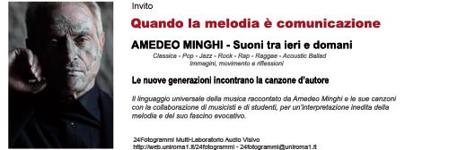 Quando la melodia è comunicazione - Amedeo Minghi Suoni tra ieri e domani