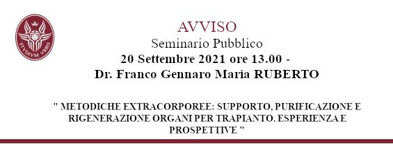 Seminario Dr. Franco Gennaro Maria RUBERTO