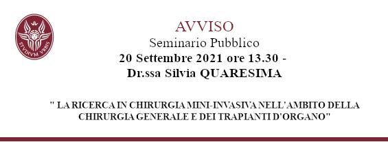 Dr.ssa Silvia QUARESIMA