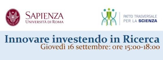 Innovare investendo in Ricerca - 16 Settembre 2021