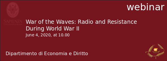 webinar - War of the Waves: Radio and Resistance During World War II