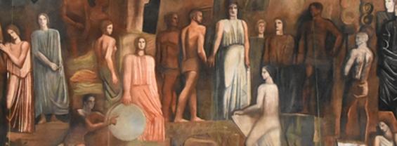 Sironi - Italia tra le arti e le scienze - particolare