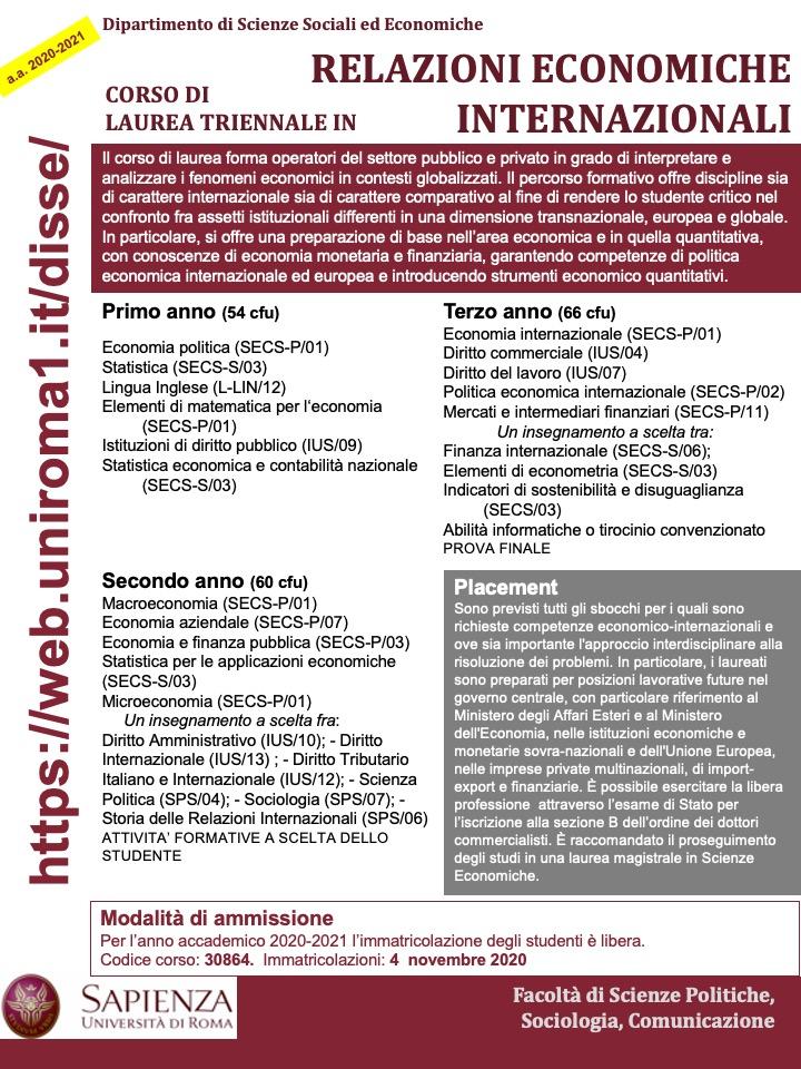 Didattica a.a. 2020 2021 | Dipartimento di Scienze Sociali ed