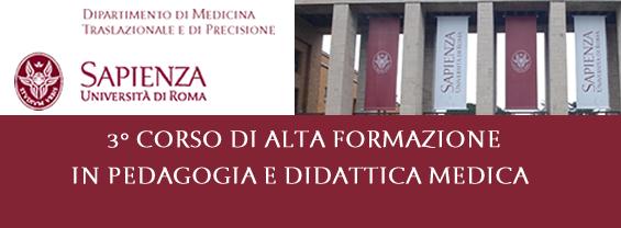 3 ° Corso di Alta Formazione in Pedagogia e Didattica Medica