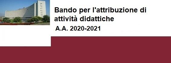 Bando per l'attribuzione di attività didattiche A.A. 2020-2021