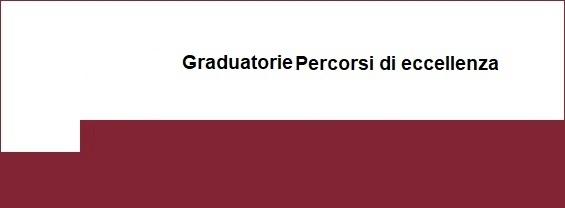 Graduatorie dei Percorsi di eccellenza A.A. 2018-2019