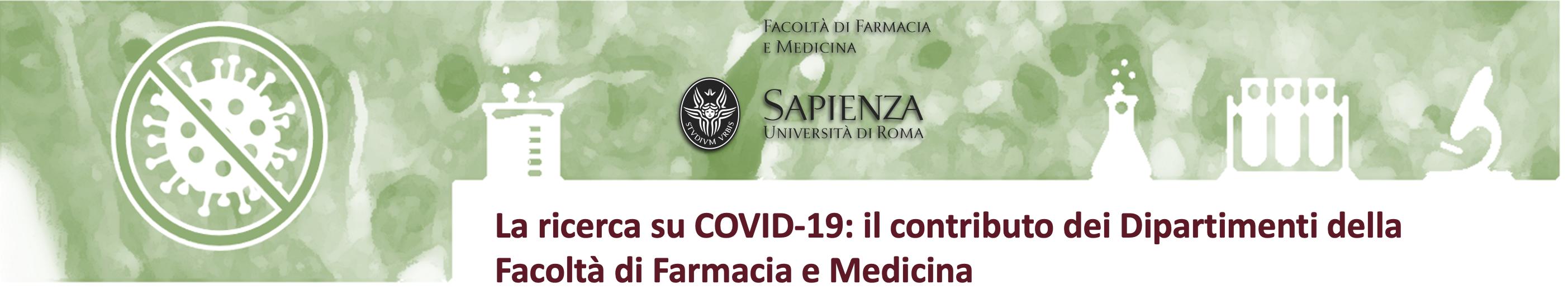 La ricerca su COVID-19: il contributo dei Dipartimenti della Facoltà di Farmacia e Medicina
