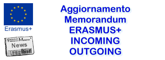 Aggiornamento Memorandum ERASMUS+ Incoming/Outgoing