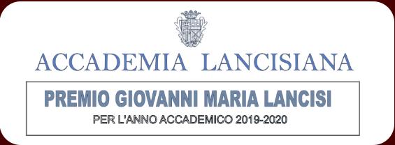 Accademia Lancisiana - Bando Premio Giovanni Maria Lancisi anno accademico 2019-2020