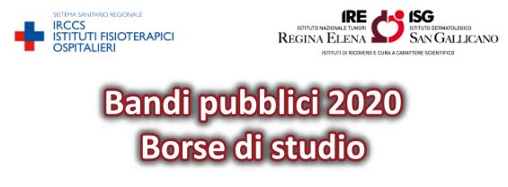 Borse di studio IFO Regina Elena San Gallicano Roma
