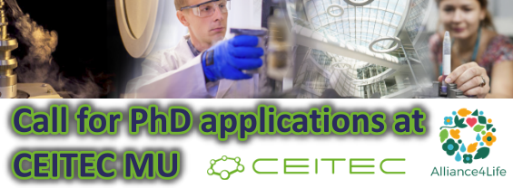 Call for PhD applications at CEITEC School in Life Sciences and Molecular Medicine. Deadline: 28 February 2021.