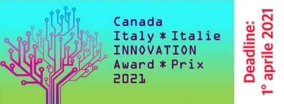 Premio Canada-Italia per l'Innovazione 2021.