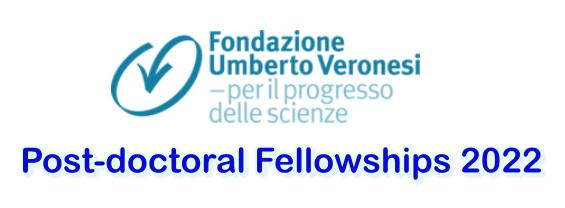 Fondazione Umberto Veronesi: Post-doctoral Fellowships 2022