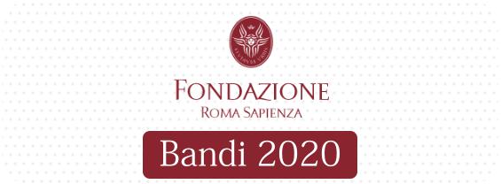 Fondazione Roma Sapienza: Bandi 2020