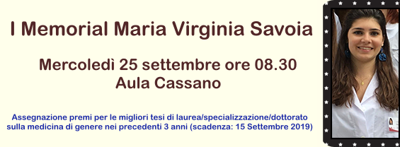Maria Virginia Savoia, primo Memorial Day e premio tesi
