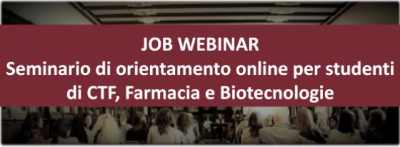 Webinar di orientamento per studenti e giovani laureati in Farmacia, CTF e Biotecnologie