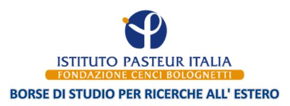 Bando borse di studio annuali per le ricerche all'estero, L'Istituto Pasteur Italia – Fondazione Cenci Bolognetti