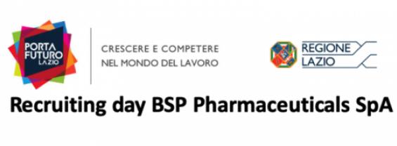 Recruiting day BSP Pharmaceuticals SpA