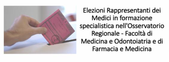 Elezioni Rappresentanti dei Medici in formazione specialistica nell'Osservatorio Regionale