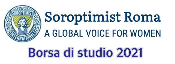 L'immagine mostra il logo della Fondazione Soroptimist e la scritta borsa di studio 2021