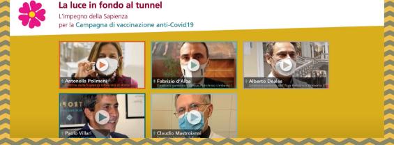 La luce in fondo al tunnel. L'impegno della Sapienza per la campagna di vaccinazione anti COVID-19