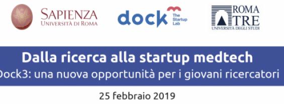 Dalla ricerca alla startup medtech - Dock3: una nuova opportunità per i giovani ricercator