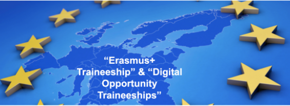 """Erasmus+ Traineeship"" and ""Digital Opportunity Traineeships"" Call - ""Erasmus+ Programme"" for 350 Three-month Mobility Grants"