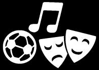 Arti, Musica, Teatro, Sport, Musei, Radio, Spiritualità, Merchandising