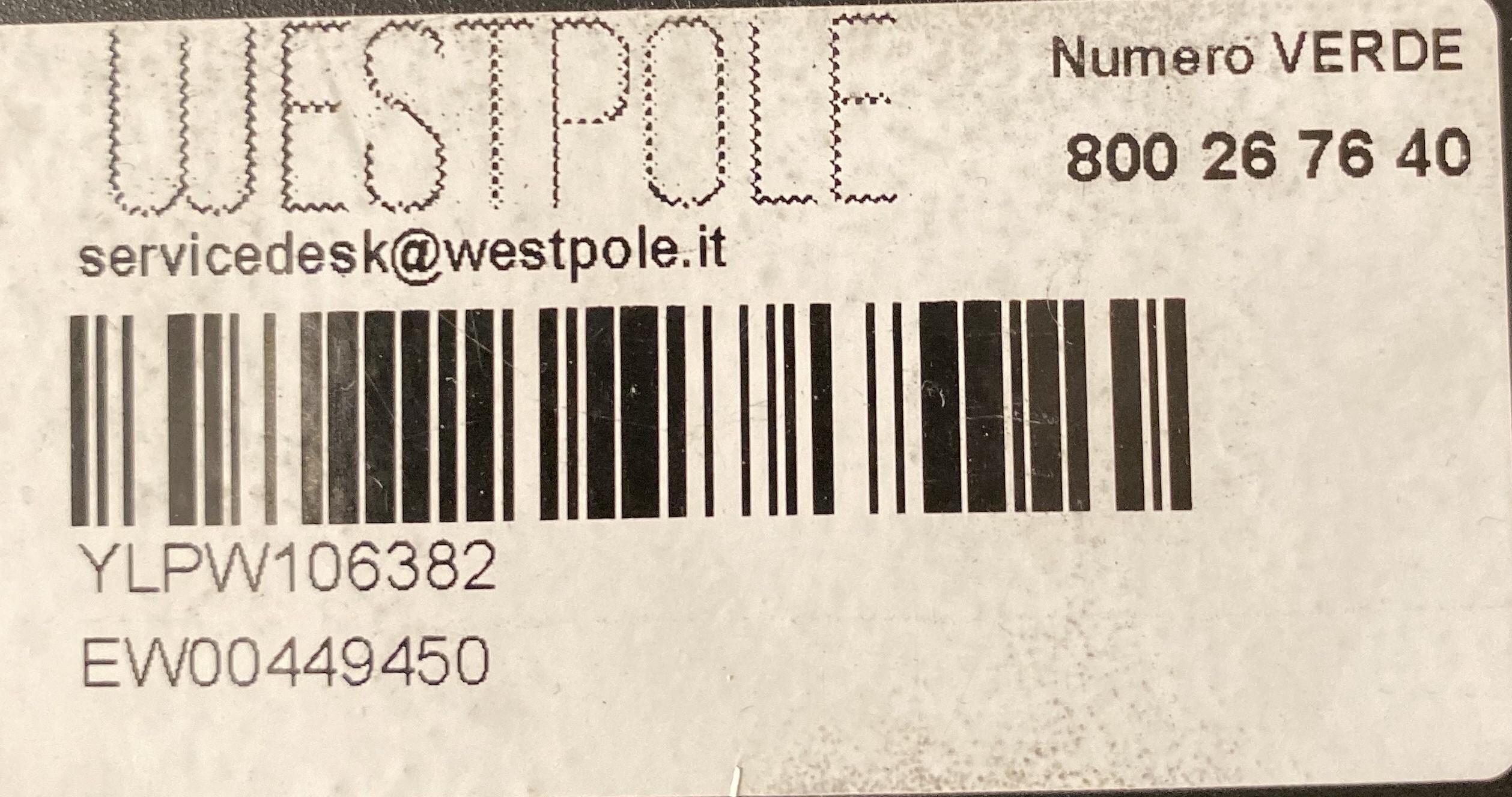 etichetta che riporta il numero verde