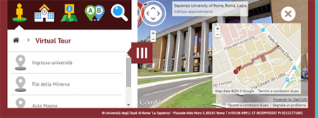 Virtual tour - schermata desktop esempio