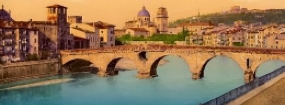Dipinto a olio digitale città di Verona