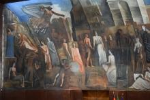 dipinto murale mario sironi maggio museale sapienza 2019