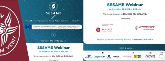 SESAME webinar on Novemeber 20, 2020 at 9.30 a.m.