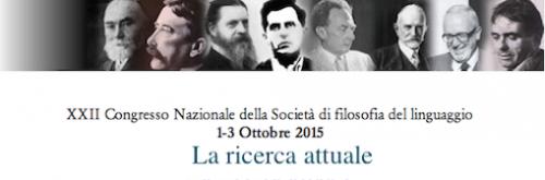 Convegno Società Filosofia del Linguaggio 2015